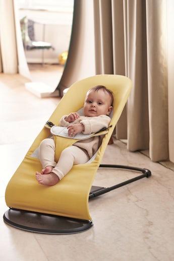 Sdraietta Balance Soft Giallo/Grigio Cotton-Jersey - BABYBJÖRN