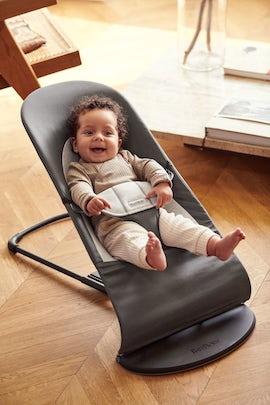 Bouncer Balance Soft in soft and cosy grey Cotton Jersey - BABYBJÖRN
