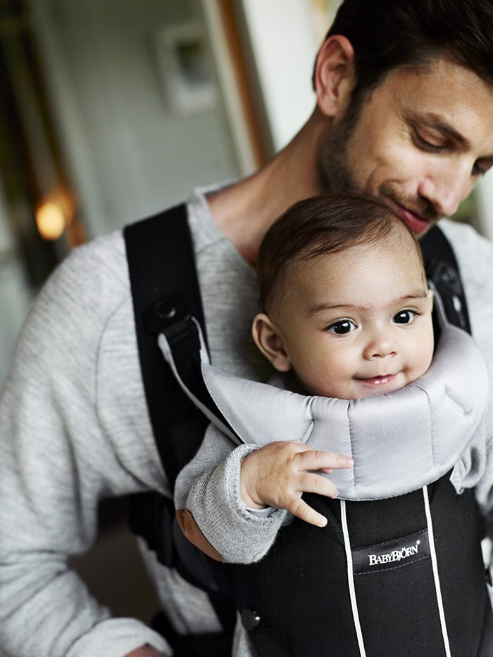 Baby Carrier Miracle Black-silver-BABYBJÖRN