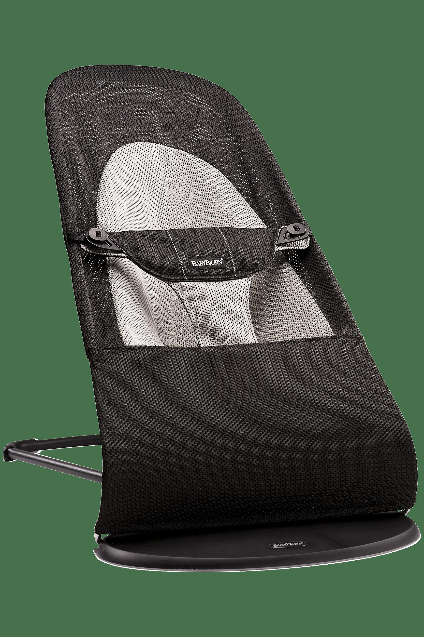 Babysitter Balance Soft Svart-grå i luftig Mesh - BABYBJÖRN