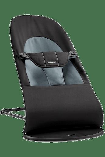 Babysitter Balance Soft i Svart-Mörkgrå Cotton - BABYBJÖRN