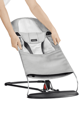 Extra Tygsits för Babysitter Balance Soft Silver Vit Mesh - BABYBJÖRN