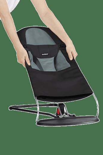 Extra Tygsits för Babysitter Balance Soft Svart Mörkgrå - BABYBJÖRN