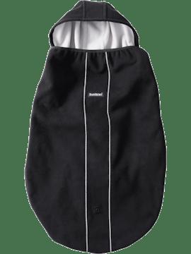Överdrag till bärsele i svart och vindtätt material