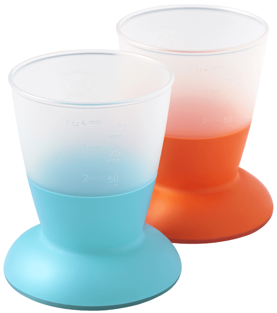 Barnglas, 2-pack Orange/Turkos - BABYBJÖRN Shop