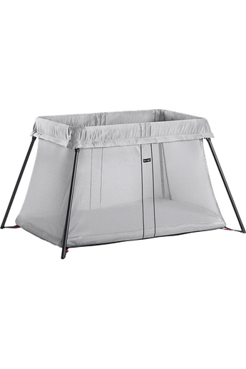 Travel Cot Light Silver Mesh - BABYBJÖRN