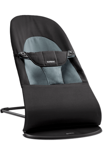 Bouncer Balance Soft Black Dark Grey Cotton - BABYBJÖRN