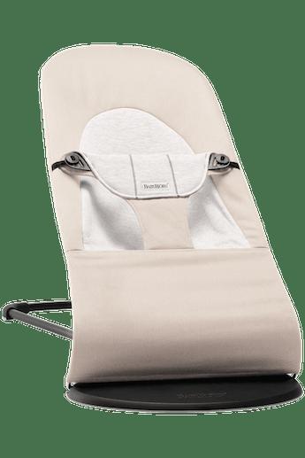 Bouncer Balance Soft Beige Grey Cotton Jersey - BABYBJÖRN