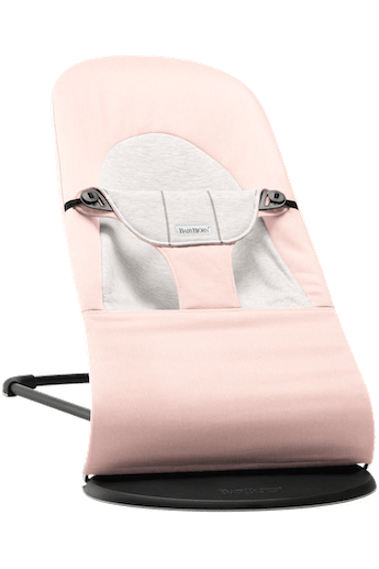 BABYBJORN Bouncer Balance Soft - Light pink/Grey, Cotton Jersey