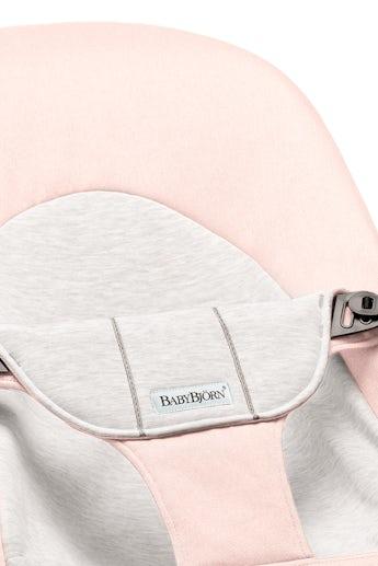 Extra tygsits för Babysitter Balance Soft Ljusrosa Grå Cotton Jersey - BABYBJÖRN
