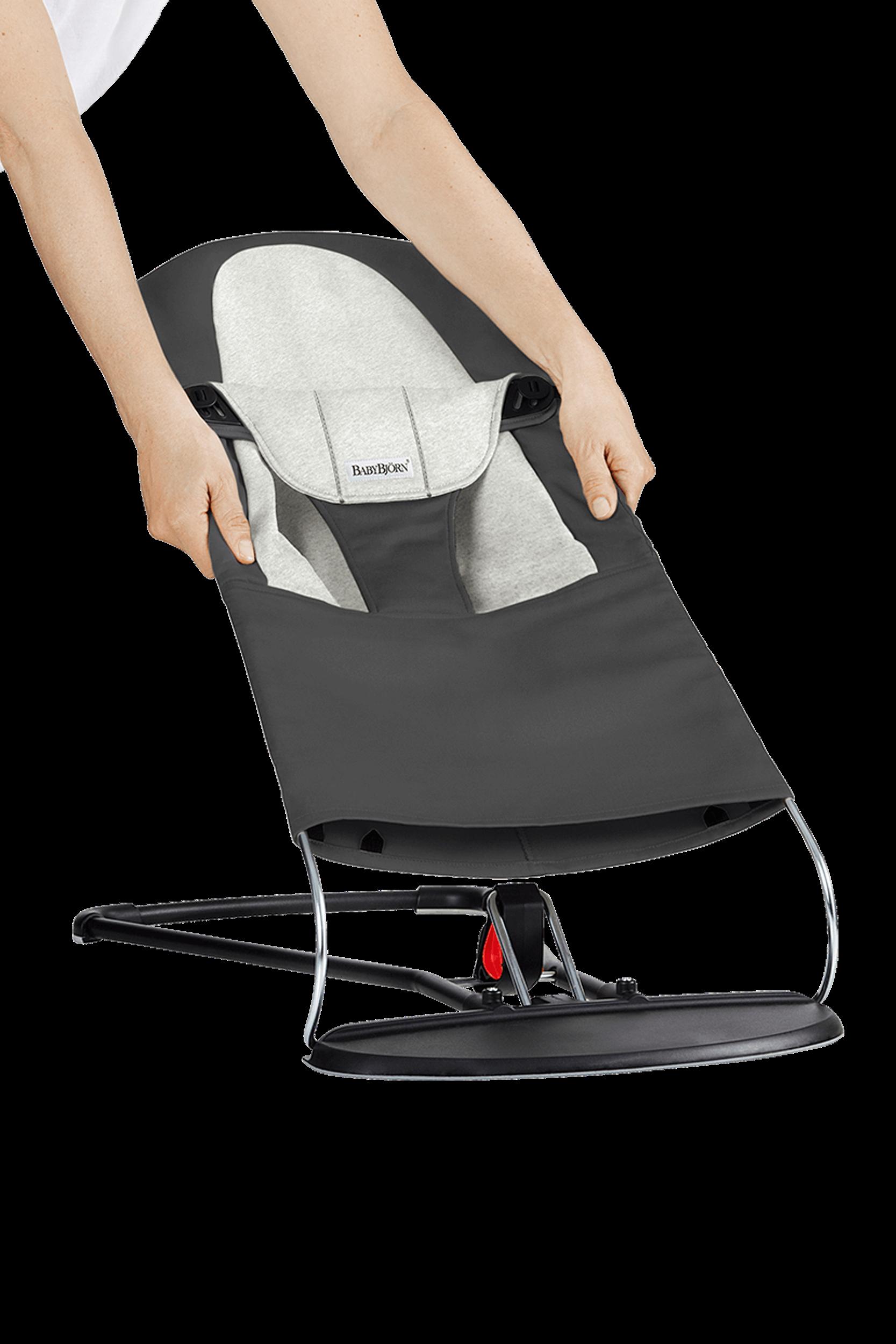 Extra Tygsits till Babysitter Balance Soft - Mörgrå-grå i Cotton Jersey - BABYBJÖRN