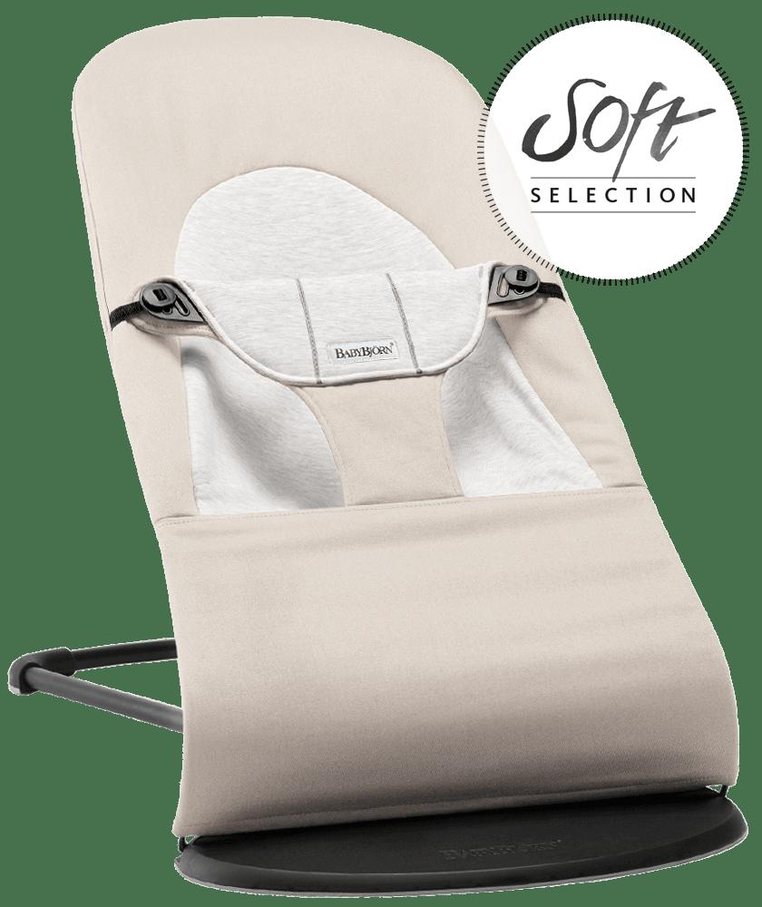 BABYBJÖRN Babysitter Balance Soft Beige/Grå, Cotton/Jersey