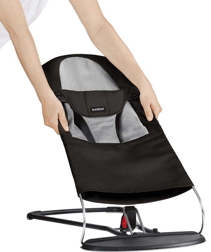 Fabric-Seat-For-Bouncer-Black-Grey-Mesh-454028-A-BabyBjorn