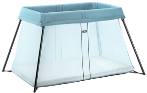 travel cribs images rn sleep on black best silver light also babybjornus and bjorn baby cots babybj crib pinterest blue babybjorn