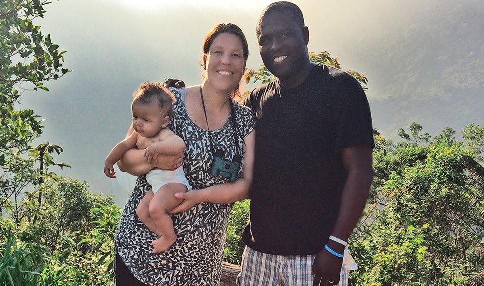 Carina på mammaledighet med familjen i Brasilien.