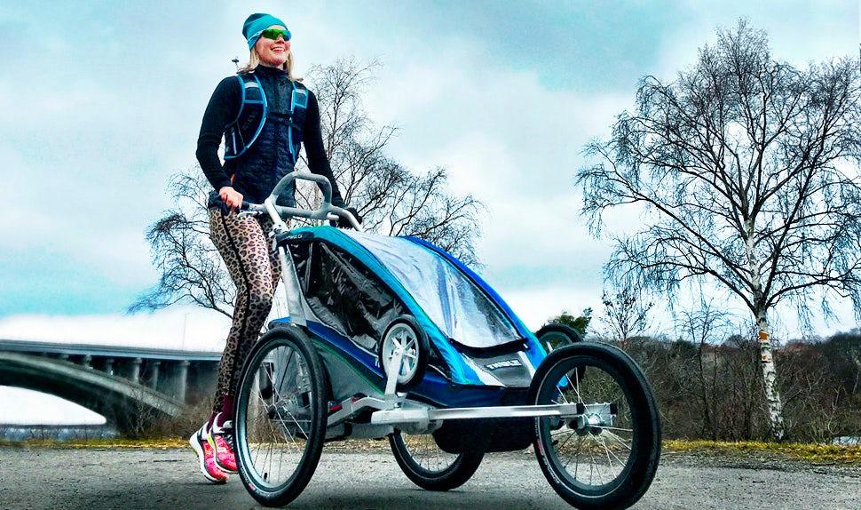 BABYBJÖRN Föräldramagasin – Petra Månström löptränar efter graviditeten.