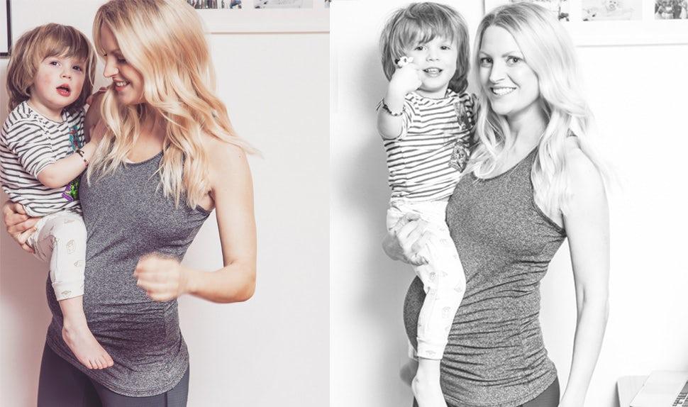 BABYBJÖRN Revista para padres – Alicia Irvine-MacDougall espera su segundo hijo y ofrece consejos útiles sobre ejercicios para embarazadas.