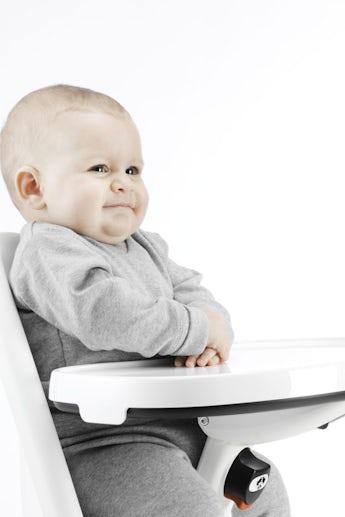 Extra bricka för matstol - vit - BABYBJÖRN