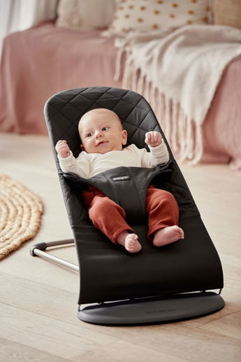Bouncer Bliss Black quilted Cotton - BABYBJÖRN