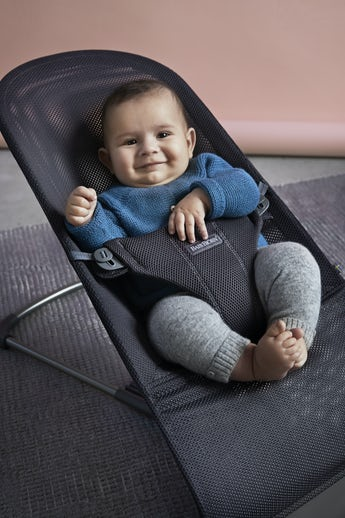 Babywippe Bliss in Anthrazitgrauem Mesh - BABYBJÖRN