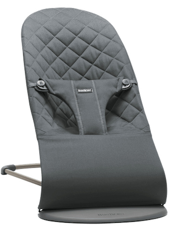 Bouncer Bliss in Anthracite in soft quilted cotton with natural rocking without batteries