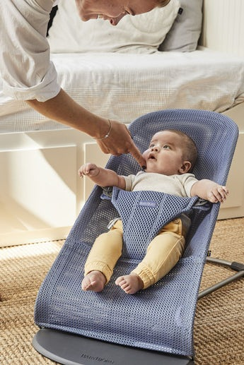 Bouncer Bliss Slate Blue Mesh - BABYBJÖRN