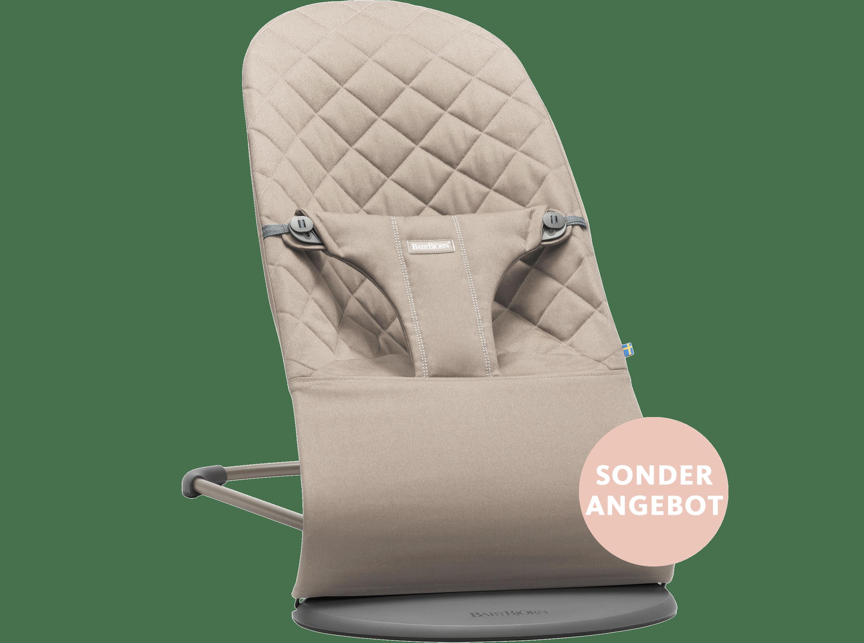 Babywippe Bliss SANDGRAU COTTON Sonderangebot - BABYBJÖRN