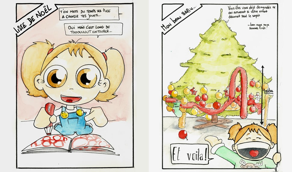 BABYBJÖRN Magazine – The picture shows a little girl surrounded by all the toys in the catalogue.