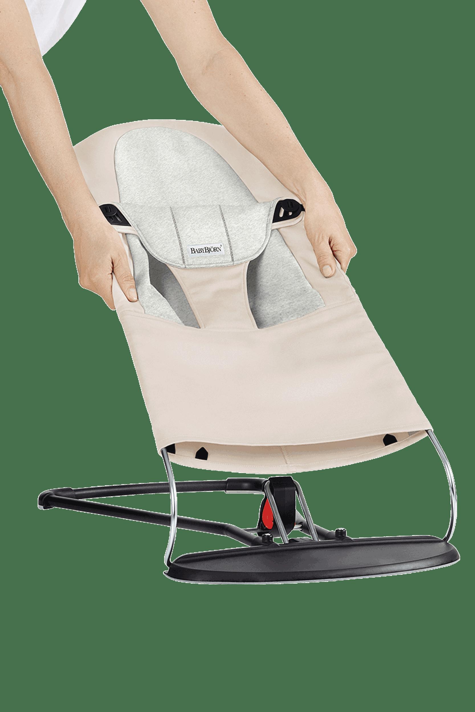 BABYBJÖRN Extra Tygsits till Babysitter Balance Soft - Beige/Grå, Cotton/Jersey