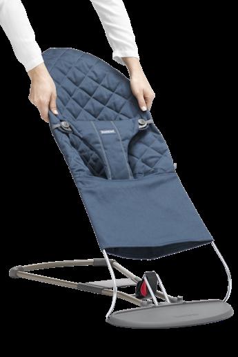 Extra Tygsits till Babysitter Bliss i Midnattsblå Cotton - BABYBJÖRN