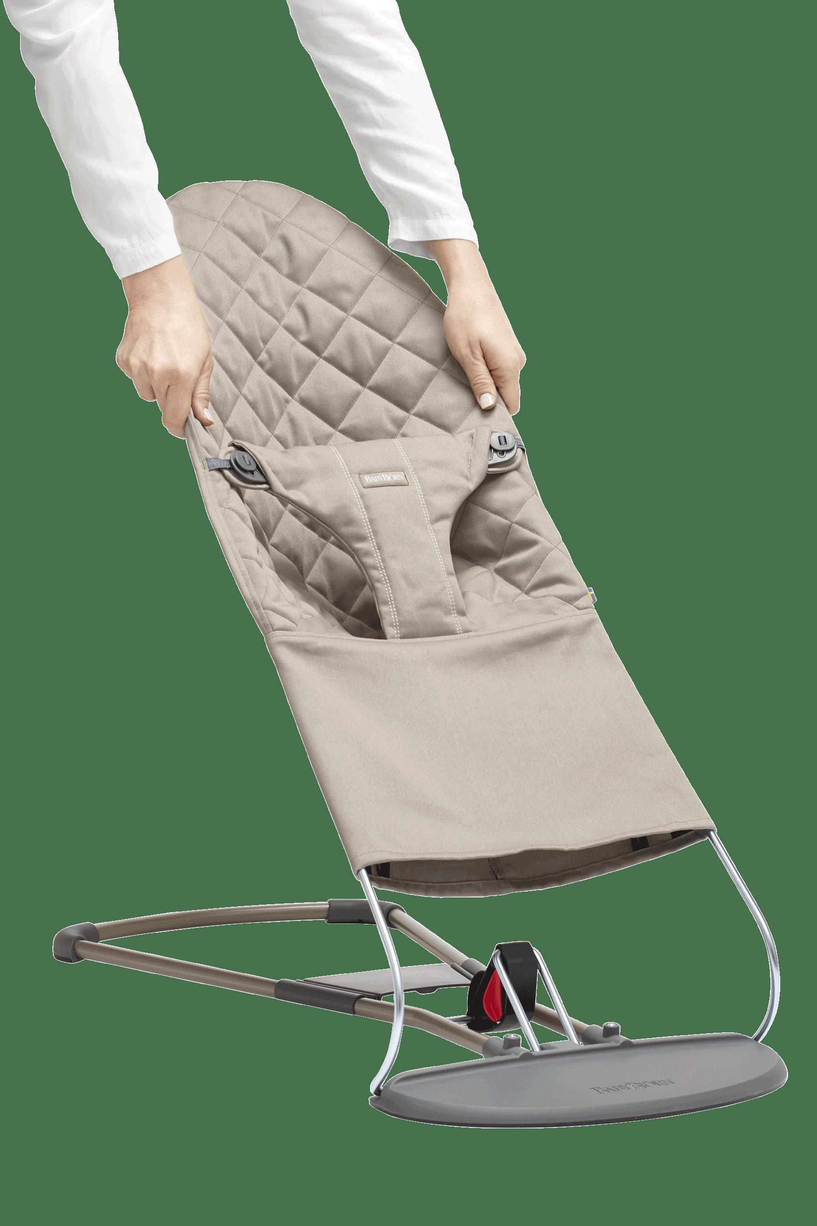 BABYBJÖRN Extra Tygsits till Babysitter Bliss - Sandgrå, Cotton