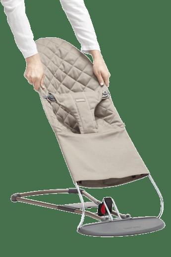 Extra Tygsits för Babysitter Bliss Sandgrå Cotton - BABYBJÖRN