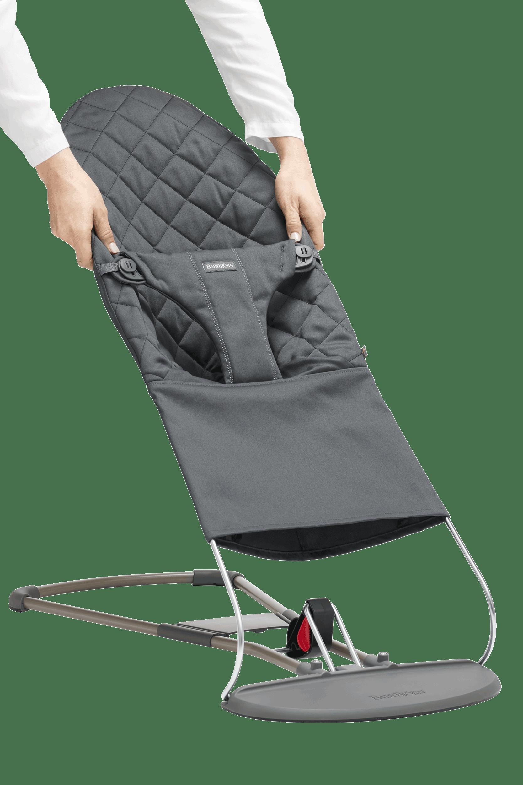 BABYBJÖRN Extra Tygsits till Babysitter Bliss - Antracitgrå, Cotton