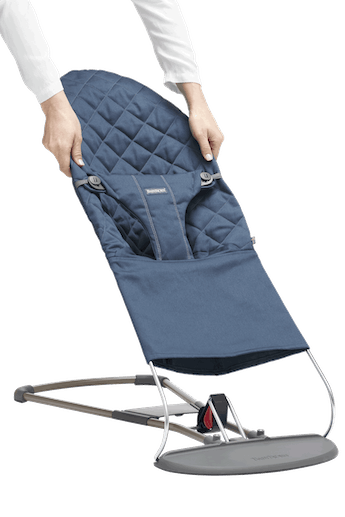 Fabric Seat for Bouncer Bliss Midnight Blue Cotton - BABYBJÖRN