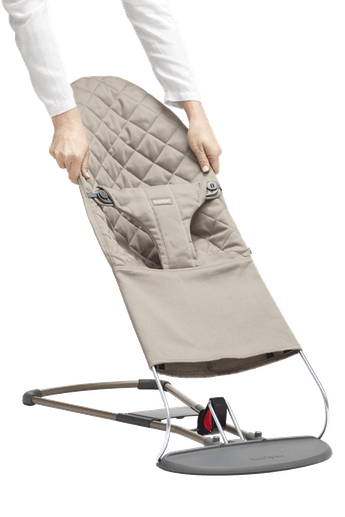 Fabric Seat for Bouncer Bliss Sand Grey Cotton - BABYBJÖRN