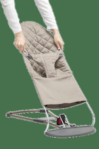 Zusatzlicher Stoffsitz fur Babywippe Bliss Sandgrau Cotton - BABYBJÖRN
