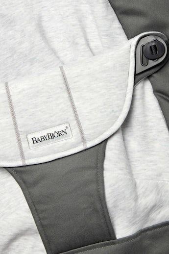 Zusatzlicher Stoffsitz fur die Babywippe Balance Soft Dunkelgrau Grau Jersey - BABYBJÖRN