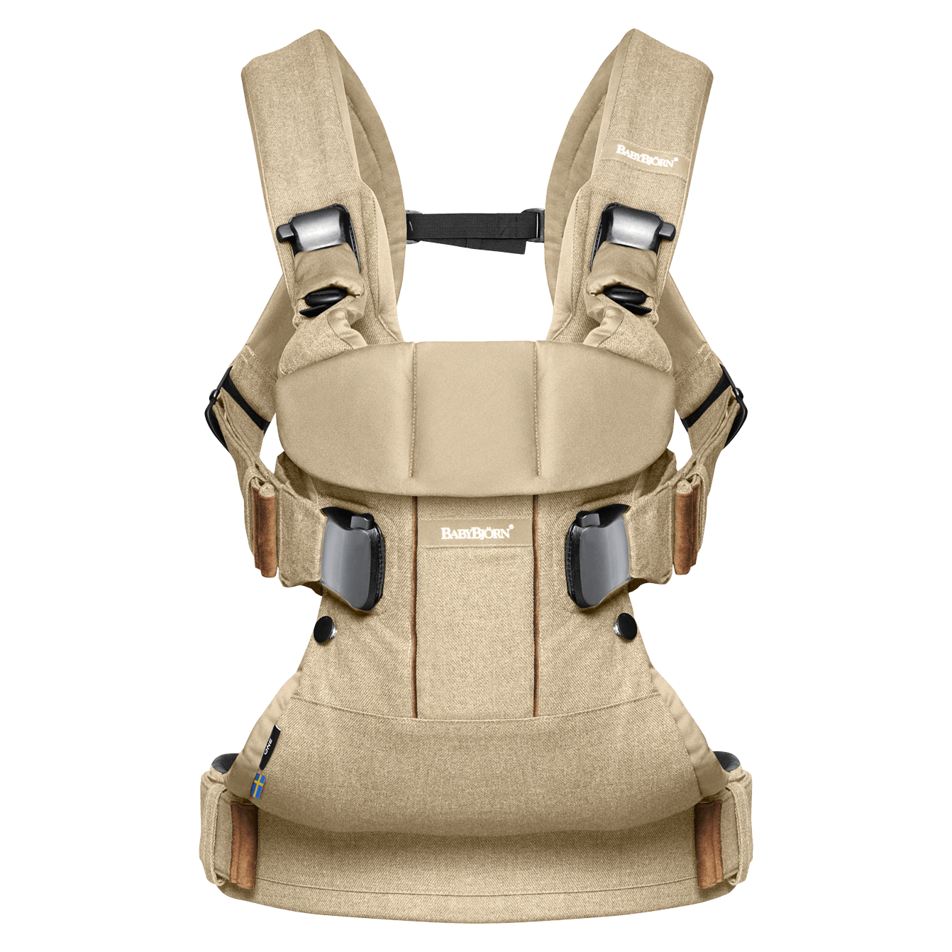 BABYBJÖRN Baby Carrier One in birchwood beige cotton mix, an ergonomic baby carrier perfect for newborn up to 3 years.