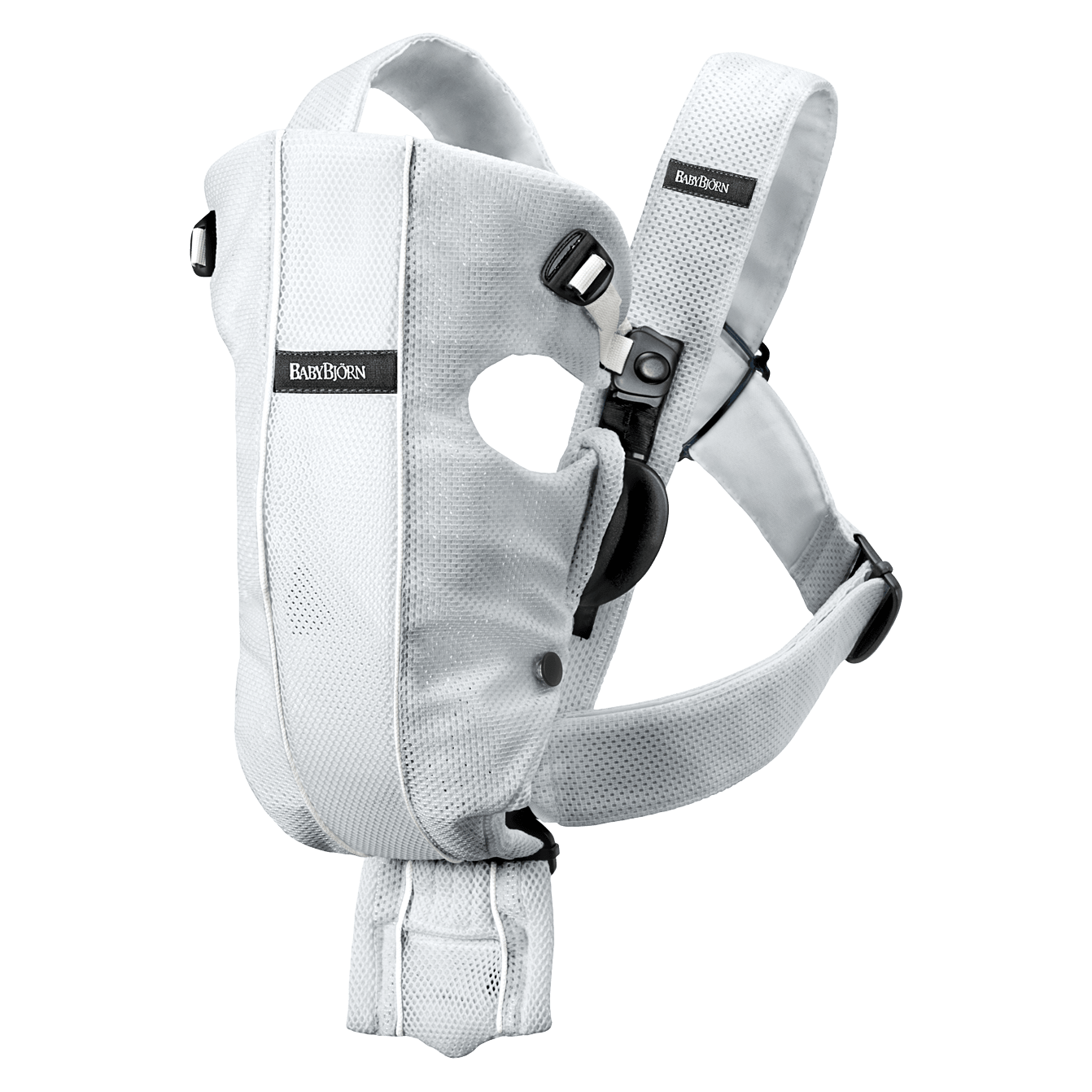 BABYBJÖRN Baby Carrier Original in Silver Mesh, perfect for newborn thanks to the built-in insert.