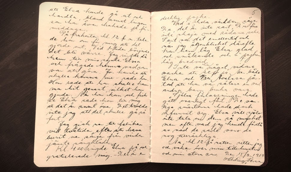 BABYBJÖRN Magazine – Birth Stories: a diary entry from 1919.