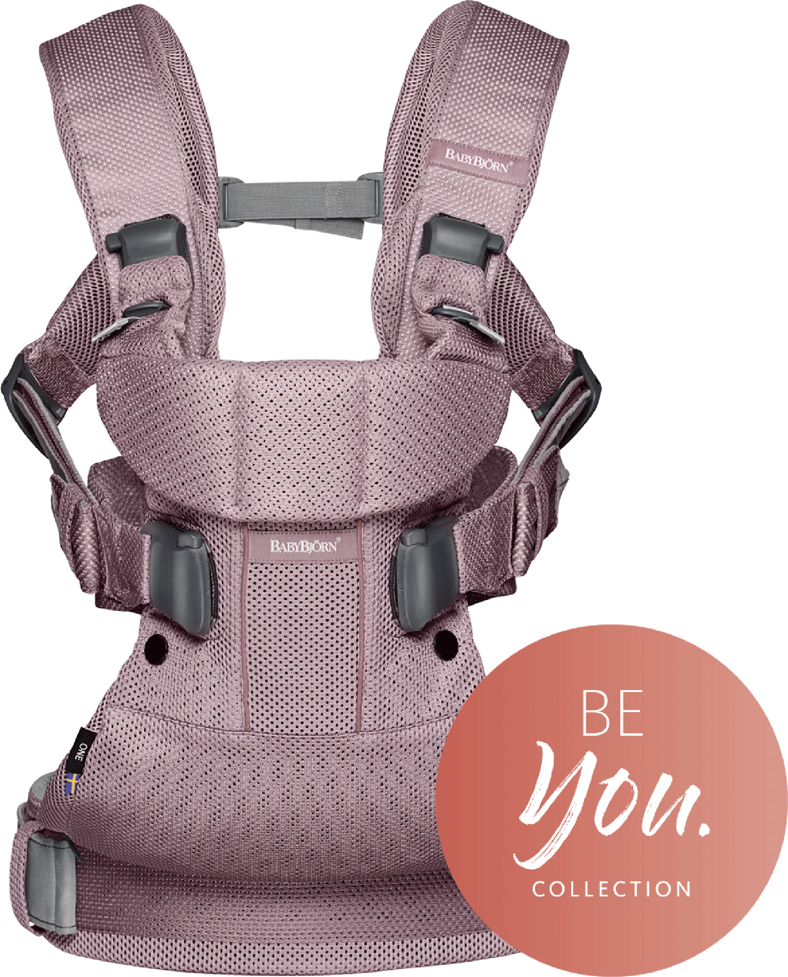 BABYBJÖRN Baby Carrier One Air in lavender violet mesh, an ergonomic baby carrier perfect for newborn up to 3 years.