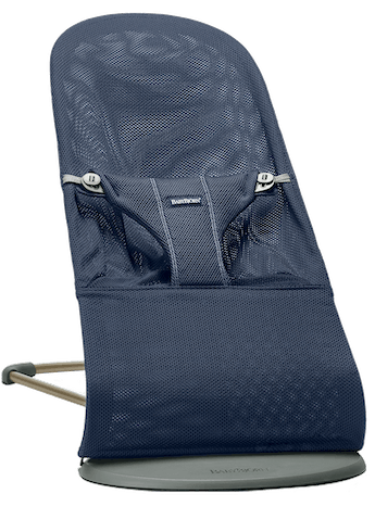 Bouncer Bliss in Navy blue soft and airy Mesh with natural rocking without batteries