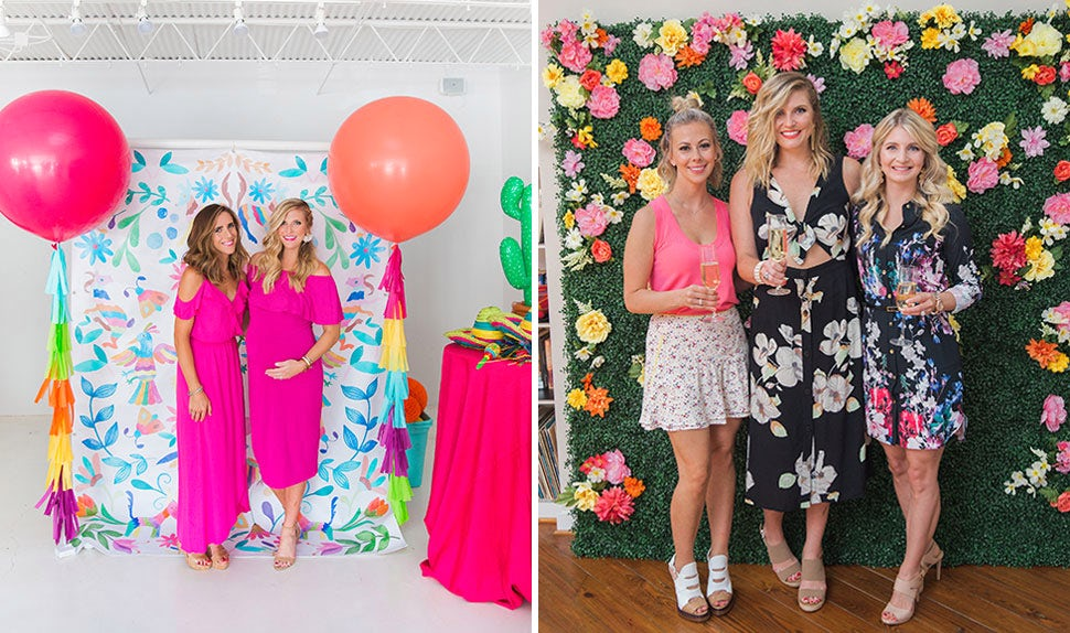 BABYBJÖRN Magazine – Baby shower decorations: Create a baby shower backdrop where your guests can take photos.