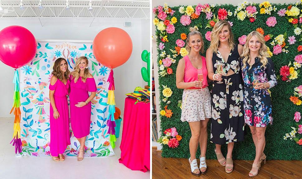 Magazine BABYBJÖRN – Deco baby shower : Créer un fond studio pour les photos prises avec vos invités.