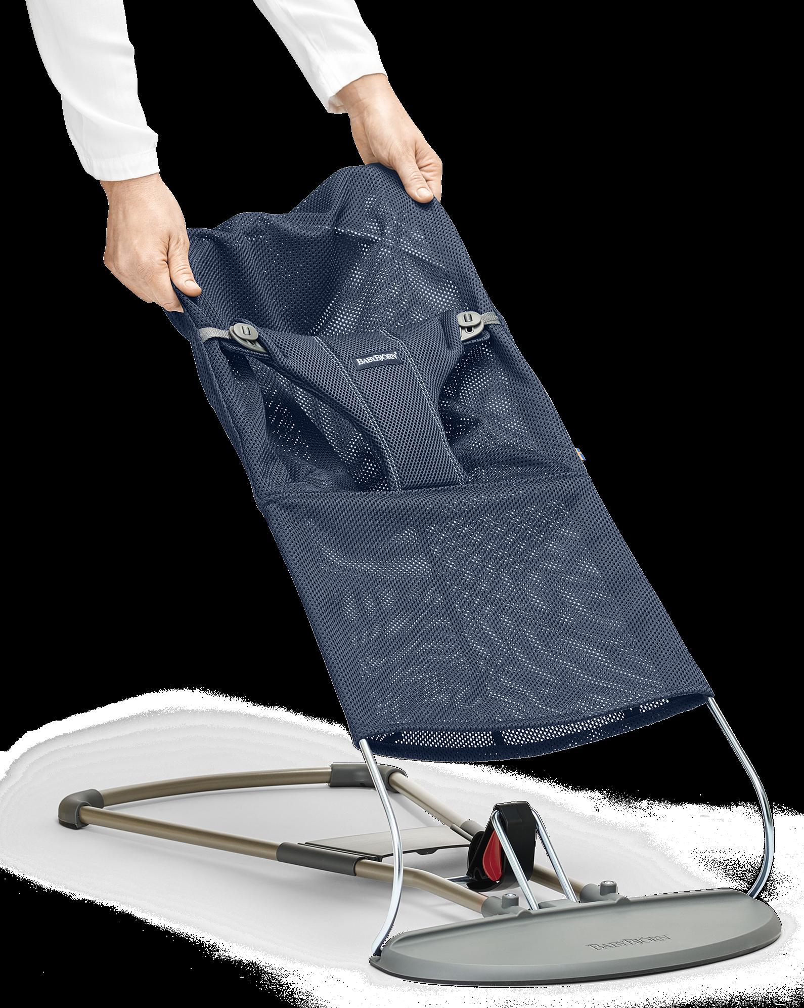Bouncer Bliss Fabric Seat Mesh Navy Blue 455003-A - BABYBJÖRN