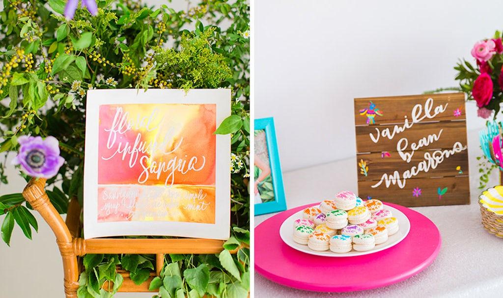 Revista BABYBJÖRN – Carteles de decoración divertidos para el menú o para dar la bienvenida a las invitadas.
