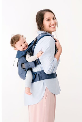 Baby Carrier One Denim MIdnight Blue Cotton mix - BABYBJÖRN