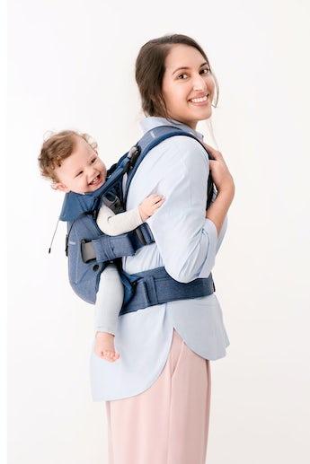 Mochila Porta Bebé One Azul Cotton - BABYBJÖRN