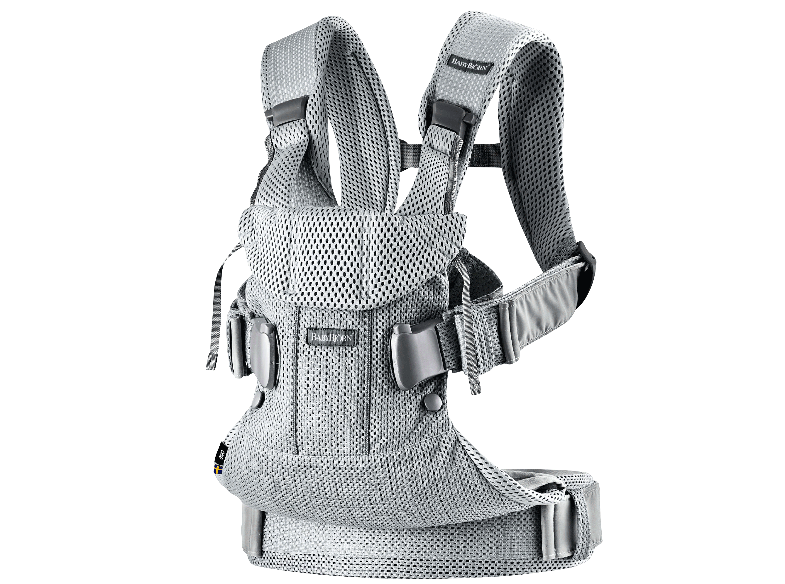 BABYBJÖRN Baby Carrier One Air - Silver, Mesh.