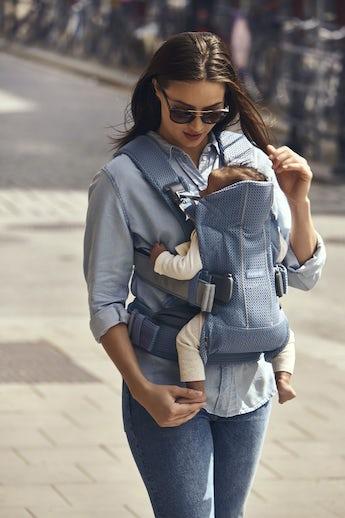 Babytrage One Air Schieferblau 3D Mesh - BABYBJÖRN